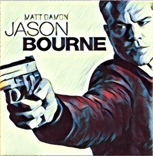 Jason Bourne Artwork by Mister G