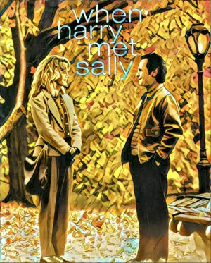 When Harry Met Sally Artwork by Mister G