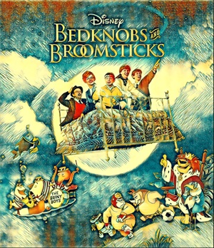 Bedknobs and Broomsticks artwork by Mister Gee